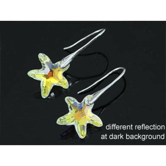 Swarovski kristályos fülbevaló Tengeri Csillag