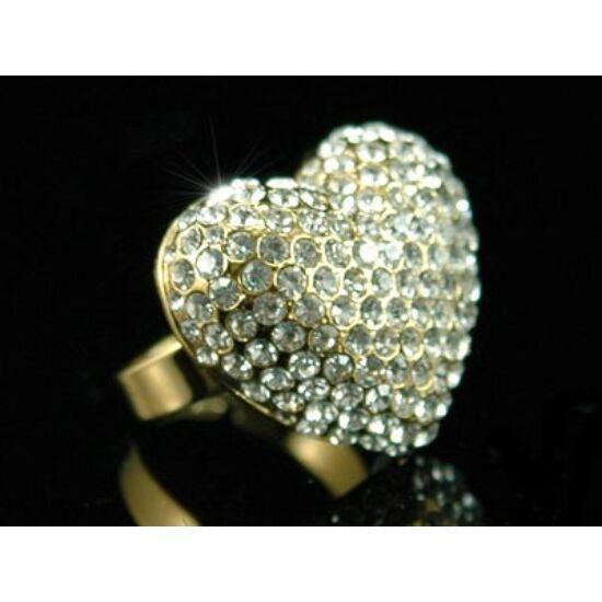 Swarovski kristályos gyűrű 47