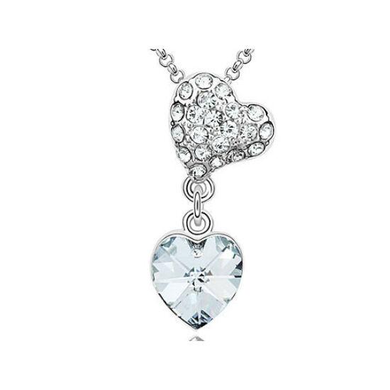 Swarovski kristályos nyaklánc sziven szív kristály