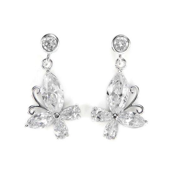 Swarovski kristályos Pillangó fülbevaló