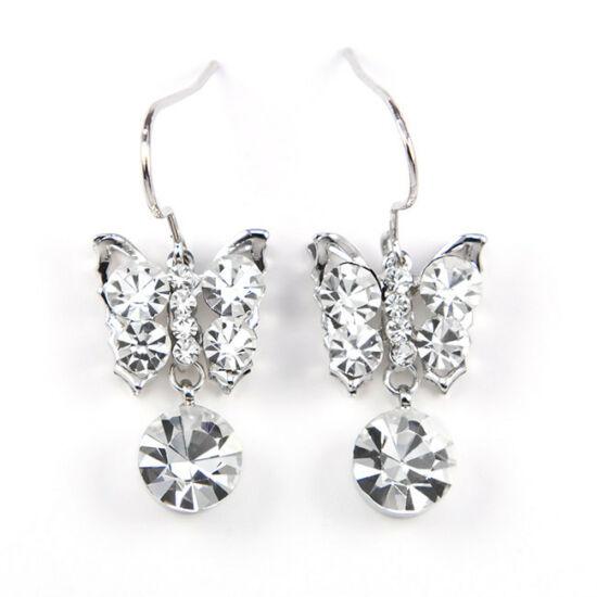 Swarovski kristályos Pillangós fülbevaló