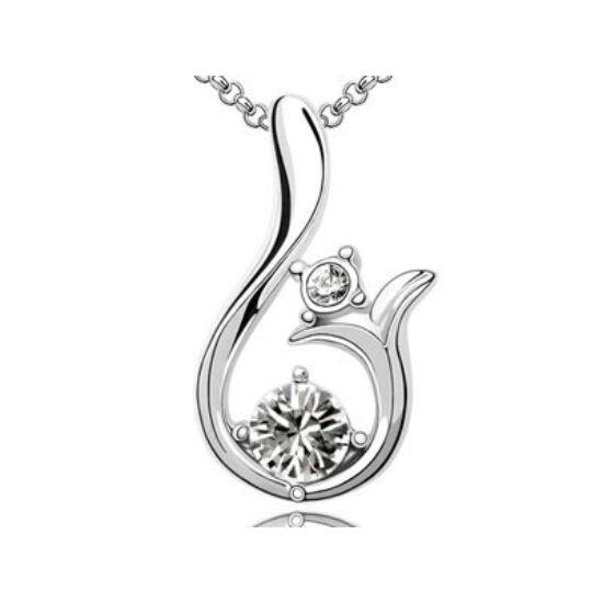 Swarovski kristályos tulipán formájú medál