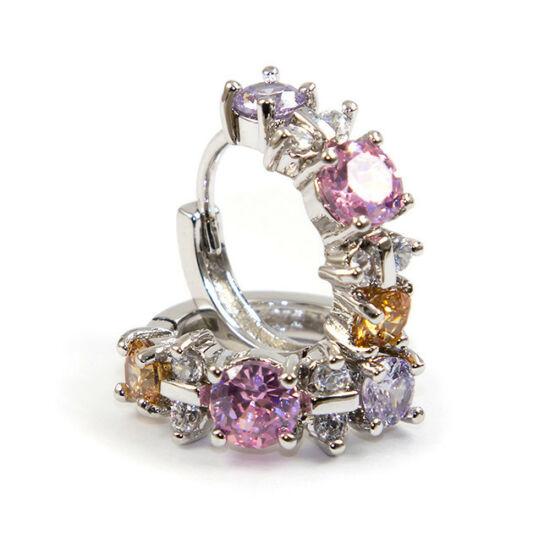Swarovski  Szines kristályos fülbevaló