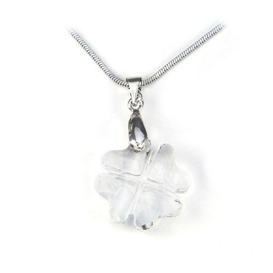 Swarovski® kristályos ezüst nyaklánc - 19 mm - Lóhere - Crystal - 925 ezüst  ékszer a7a238b38a