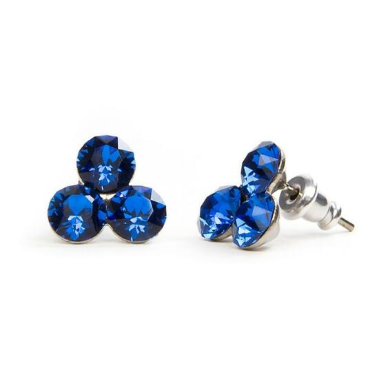 Swarovski® kristályos nemesacél fülbevaló - Bermuda Blue