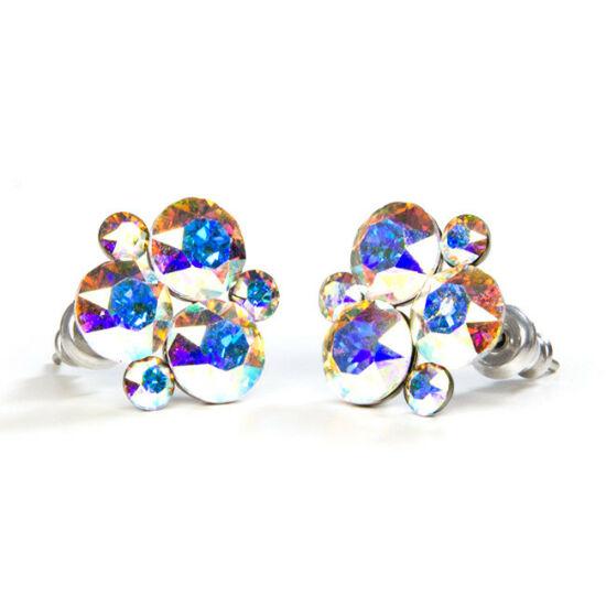 SWAROVSKI® kristályos nemesacél fülbevaló - Crystal AB