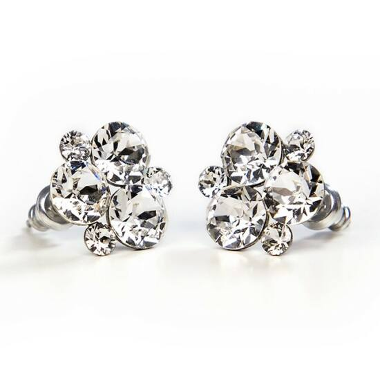 SWAROVSKI® kristályos nemesacél fülbevaló - Crystal
