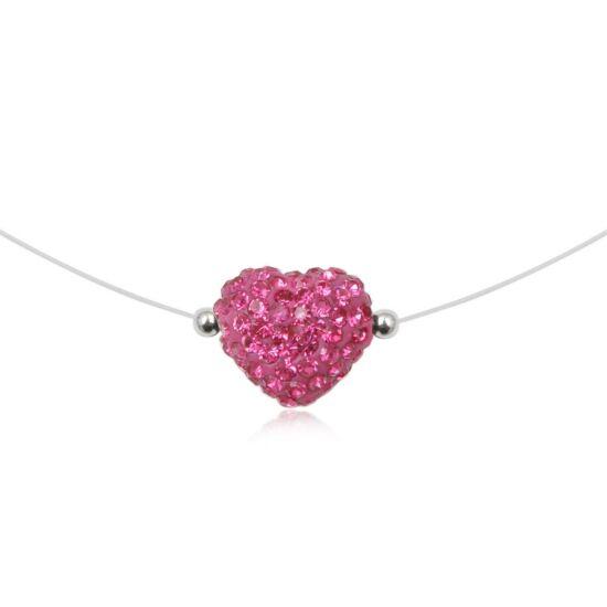 Szív alakú ezüst nyaklánc - 925 ezüst ékszer