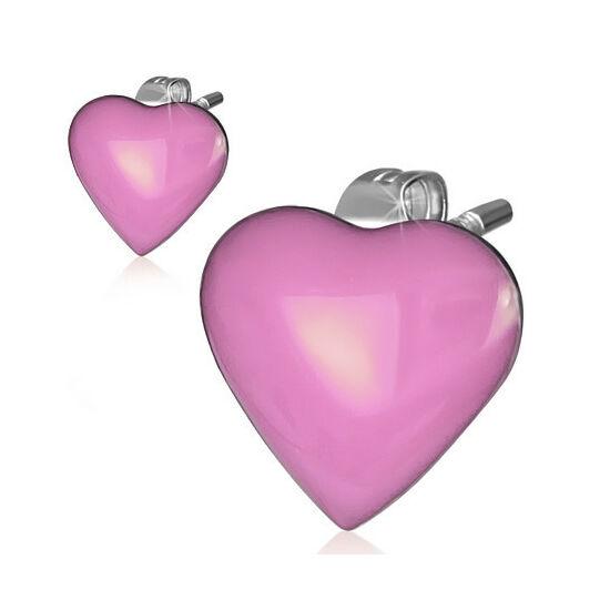 Szív alakú nemesacél fülbevaló