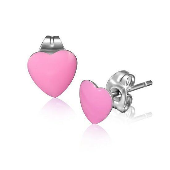 Szív alakú nemesacél fülbevaló ékszer