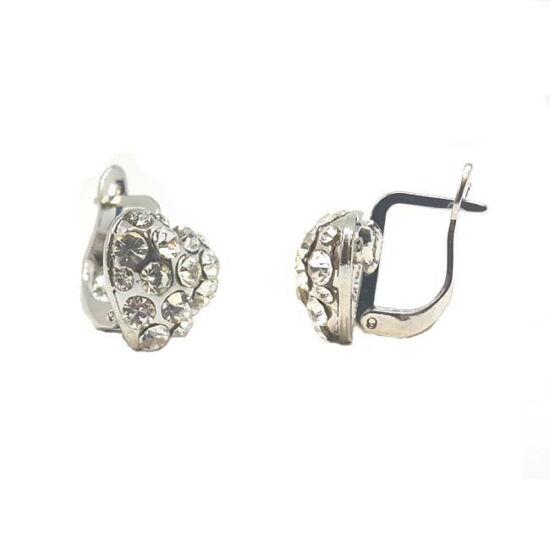 Szív alakú Swarovski kristályos fülbevaló
