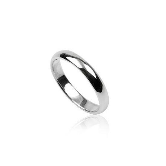 Tükörfényes ezüst gyűrű-9