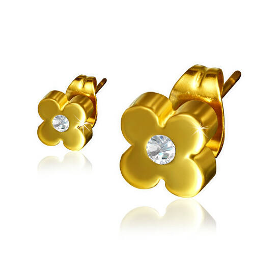 Virág alakú fülbevaló krisztállyal