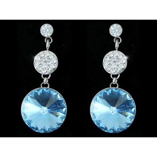 Yiska Swarovski kristályos fülbevaló - Kék