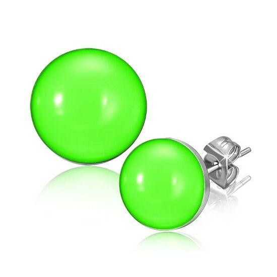 Zöld színű pont nemesacél fülbevaló ékszer
