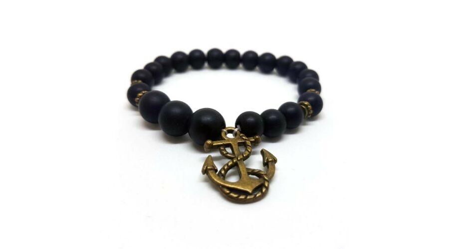Kép 1 1 - Ahoi - Horgonnyal díszített rugalmas gyöngy bizsu karkötő e3d8479a37