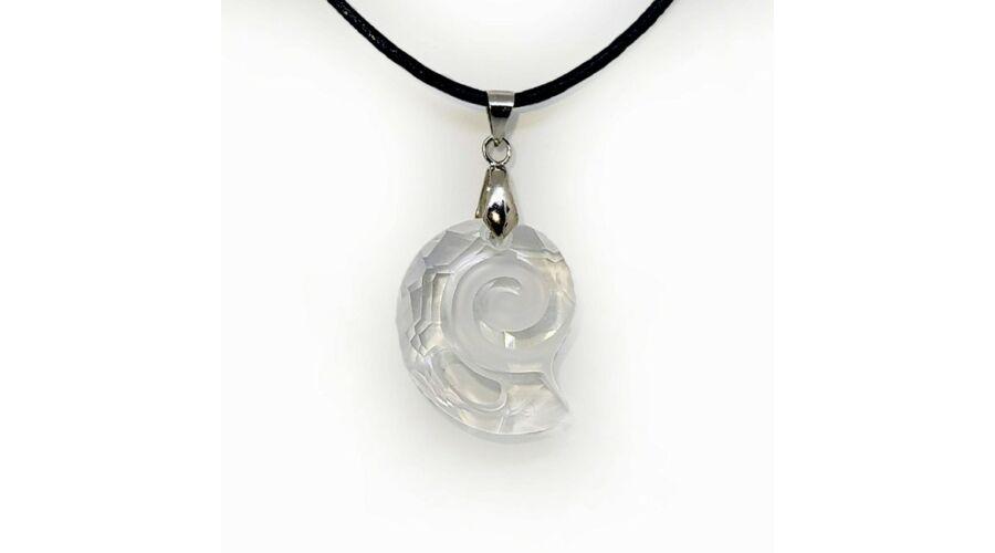 Kép 1 1 - Swarovski® kristályos bőr nyaklánc - 28 mm - Csiga - Crystal 0b63837dc5